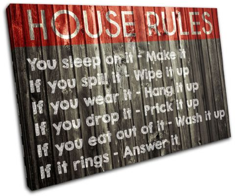 Family House Rules Typography - 13-2375(00B)-SG32-LO